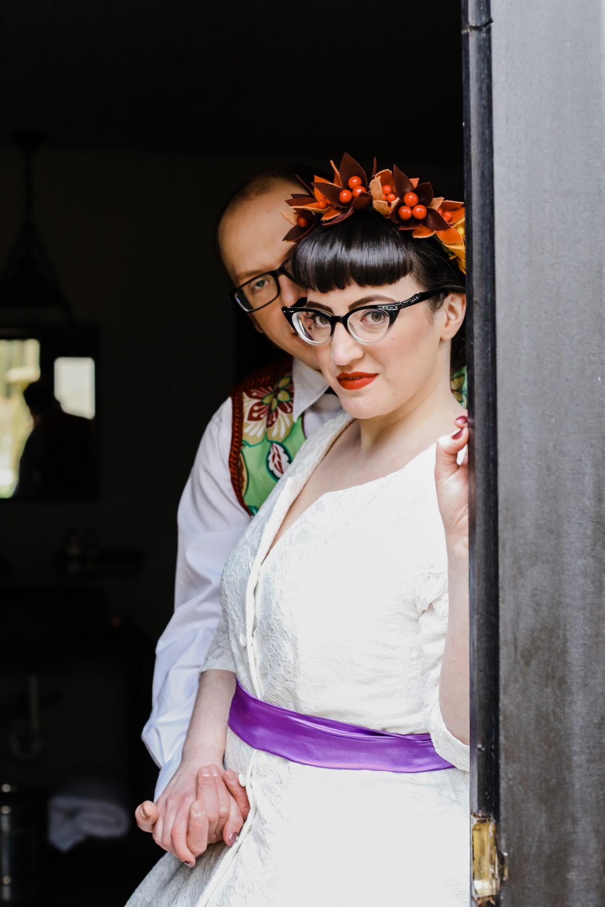 Becky Payne Photographer - Rainbow Unicorn Styled Wedding Shoot - Doorway