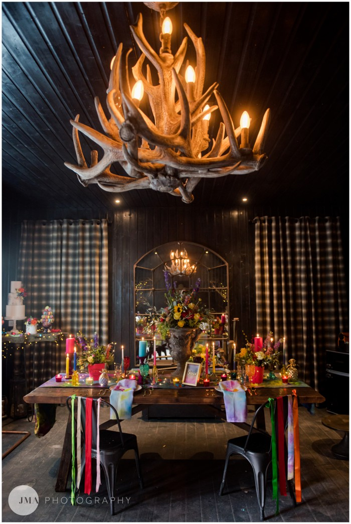 Jemma Mickleborough Photographer - Rainbow Unicorn Wedding - Northstar Club - Tablescape - Table set up 1