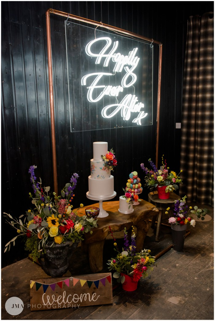 Jemma Mickleborough Photographer - Rainbow Unicorn Wedding - Northstar Club - Bright tablescape