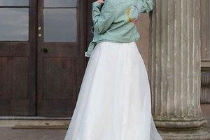 ophelia rose hand painted - bridal leather jackets 2