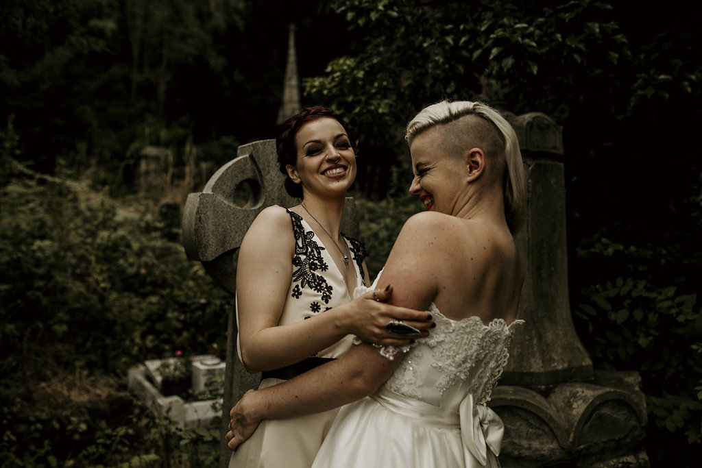 Chloe Mary Photography - Babes with the Power wedding - Rebel Rebel - Alternative wedding - Gothic wedding 11