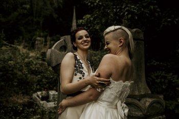 Chloe Mary Photography - Babes with the Power wedding - Rebel Rebel - Alternative wedding - Gothic wedding 11