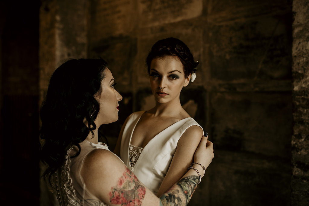 B Chloe Mary Photography - Babes with the Power wedding - Rebel Rebel - Alternative wedding - Gothic wedding 66