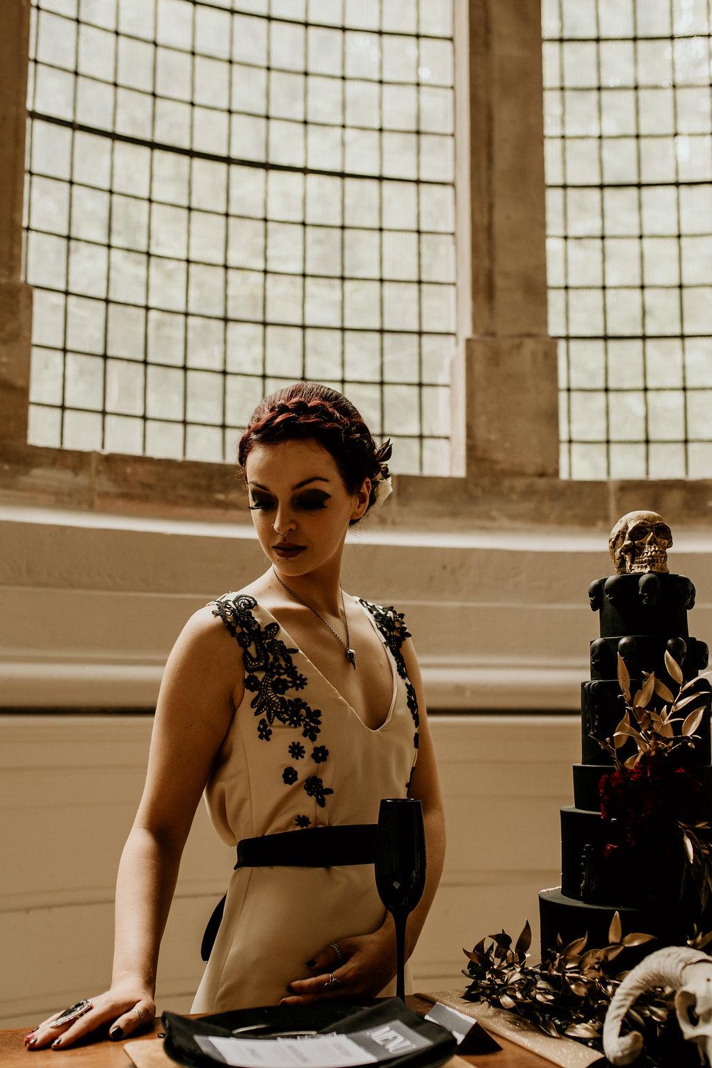 Chloe Mary Photography - Babes with the Power wedding- Rebel Rebel - Alternative wedding - Gothic wedding 17