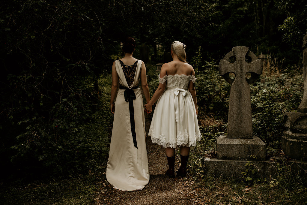 Chloe Mary Photography - Babes with the Power wedding - Rebel Rebel - Alternative wedding - Gothic wedding 9