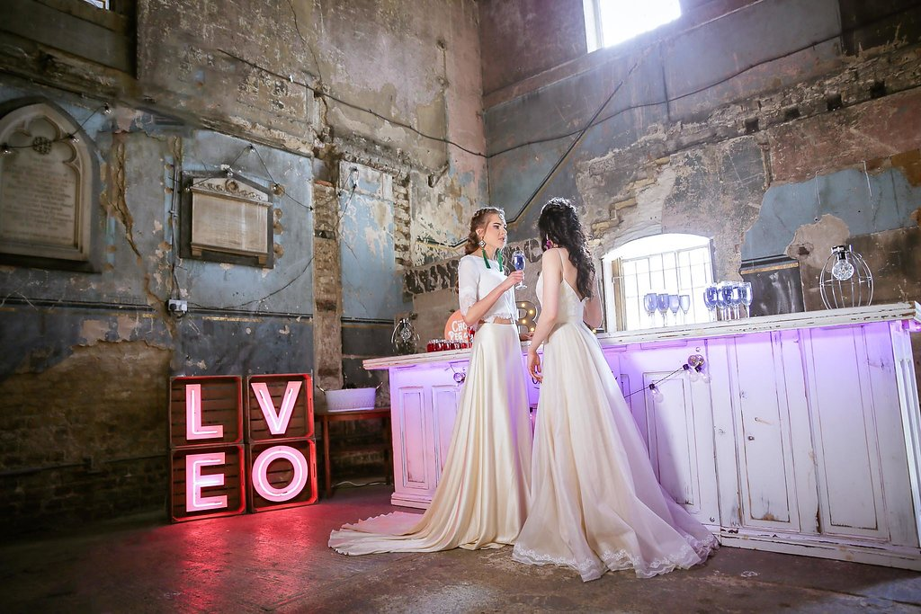Rock the Purple Love - Gido Weddings - The Asylum Chapel - alternative wedding inspiration 114 - urban modern wedding
