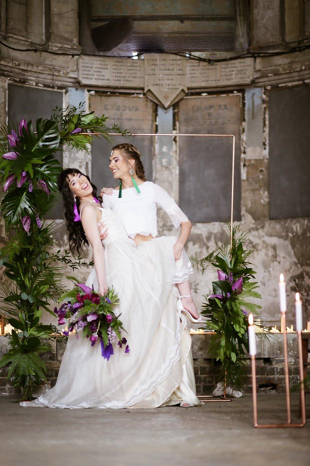 Rock the Purple Love - Gido Weddings - The Asylum Chapel - alternative wedding inspiration 107 - urban, modern wedding