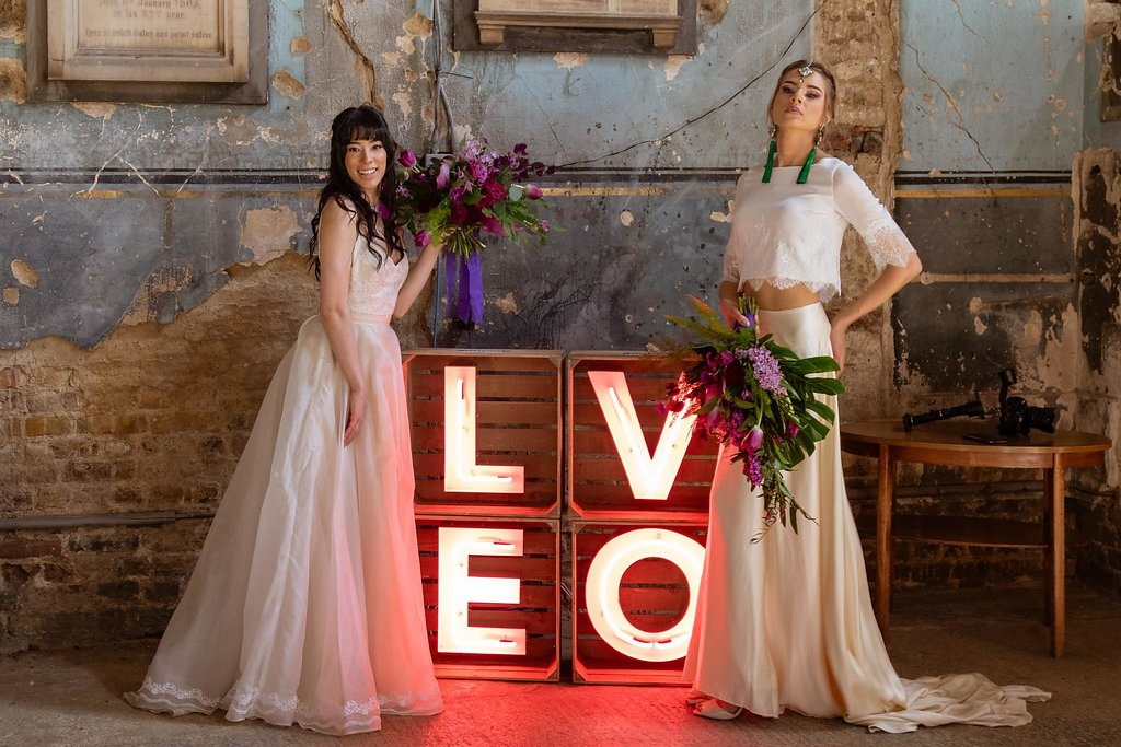 Rock the Purple Love - Gido Weddings - The Asylum Chapel - Urban, modern wedding - alternative wedding inspiration 5