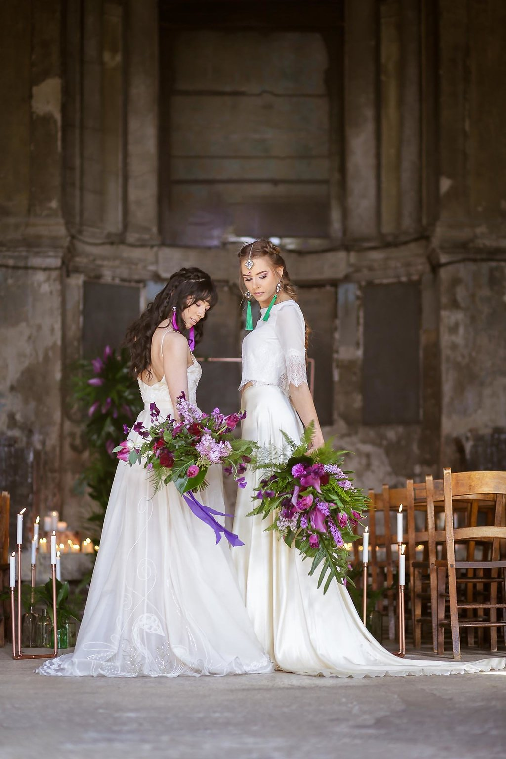 Rock the Purple Love - Gido Weddings - The Asylum Chapel - alternative wedding inspiration 117 - Urban, modern wedding