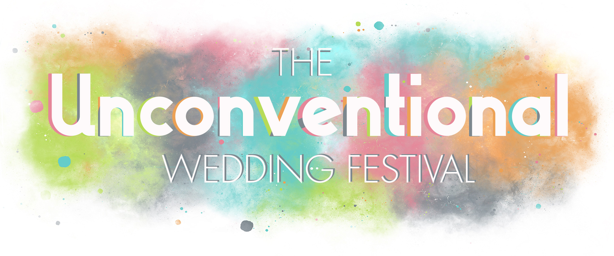 Unconventional wedding festival logo