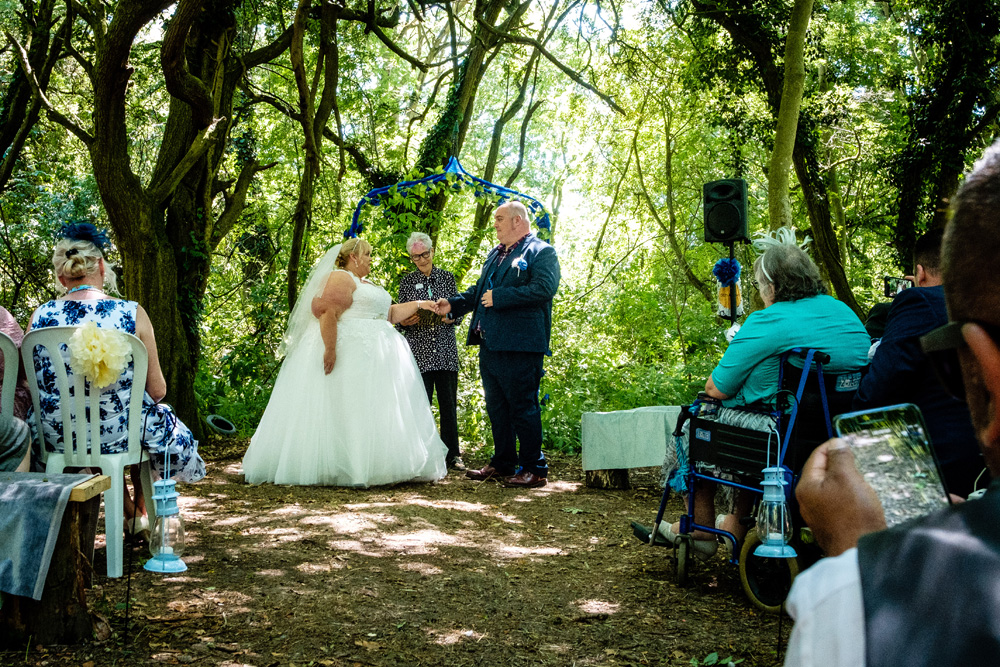 Star Ceremonies - Photo by Owain Turner - Celebrant wedding - woodland wedding - alternative wedding - unconventional wedding