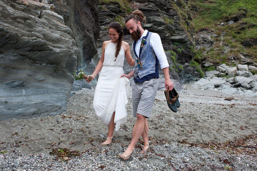 Nathan Walker Photography - Beach Wedding - Cornwall Wedding - Alternative wedding 20