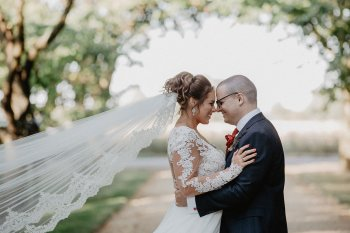 EmilyandGeoff- Nick Shea Photography- Circus Wedding couple