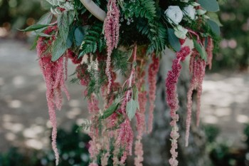 EmilyandGeoff- Nicki Shea Photography- Circus Wedding- hanging flowers