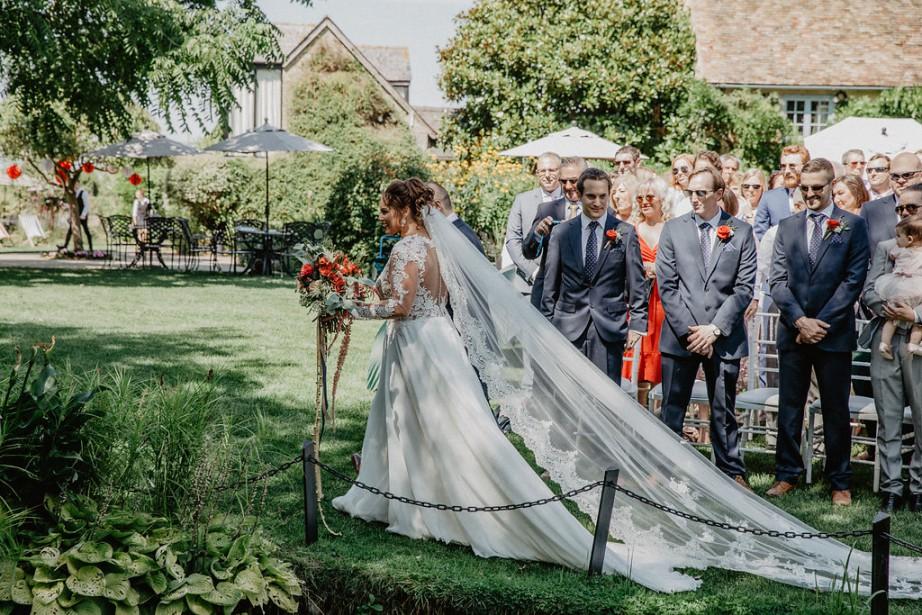 Circus Wedding- bride down the isle