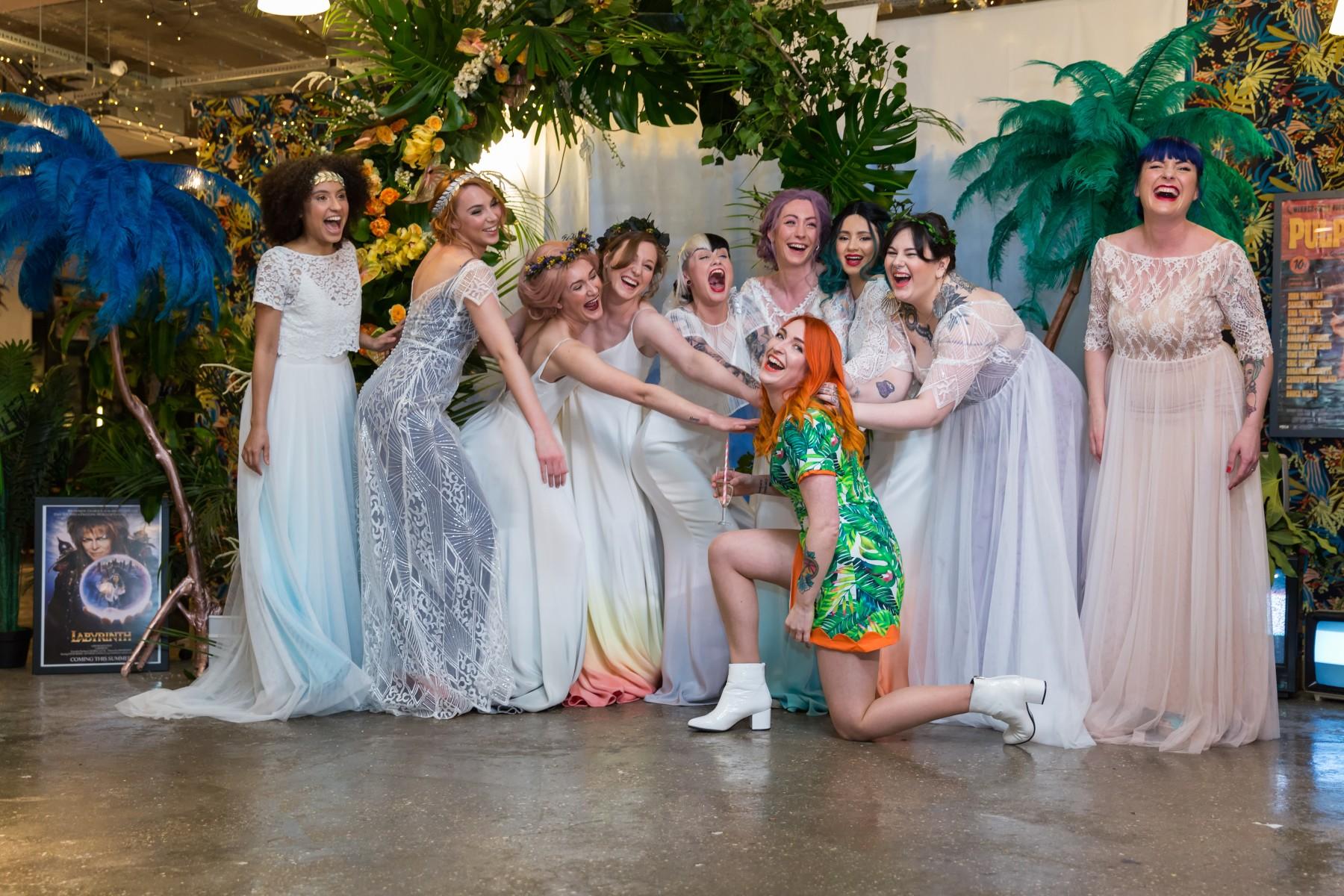 Lucy Can't Dance - Dip Dye Bridal wear - alternative wedding dress - Jodi Hanagan Photography - unusual wedding dress