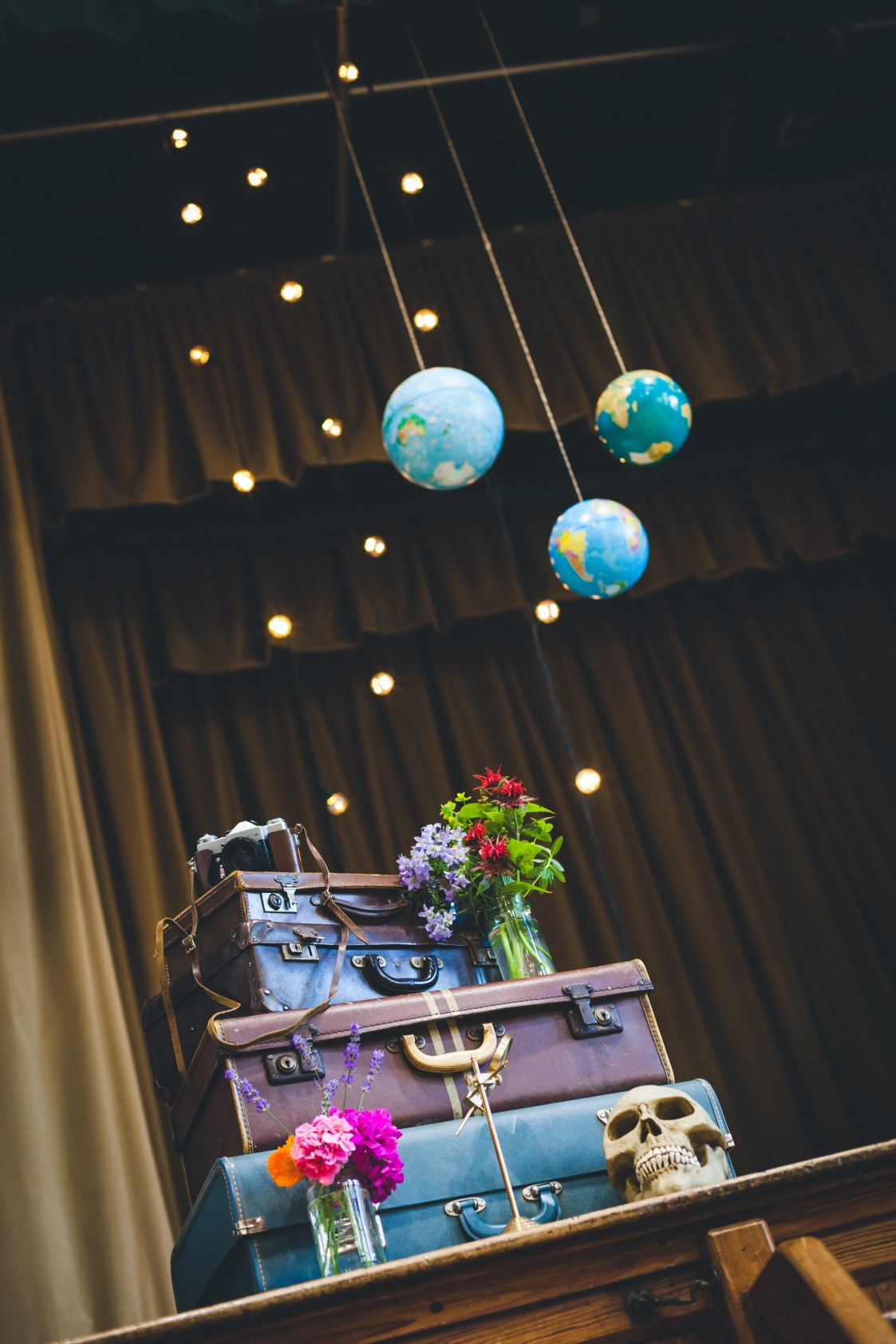 Curious Magpie-Science Geeks Wedding-Suitcases