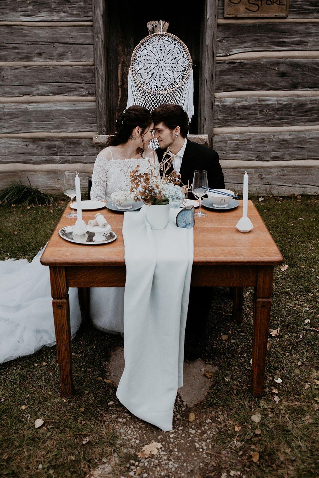 rustic winter wedding- wild honey weddings- decor