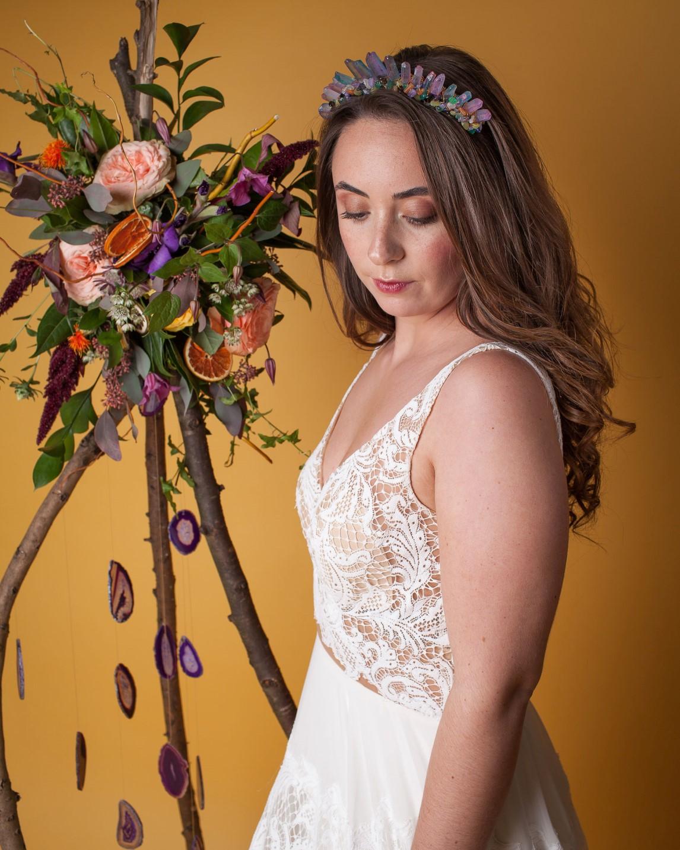 Abundance crystals- colourful wedding- bride 2