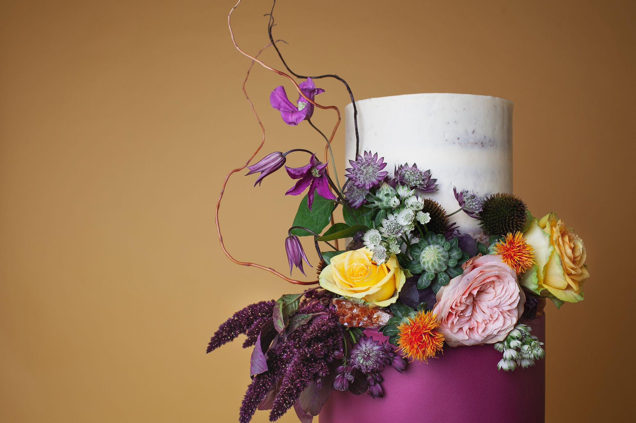 Abundance crystals- colourful wedding- cake 2