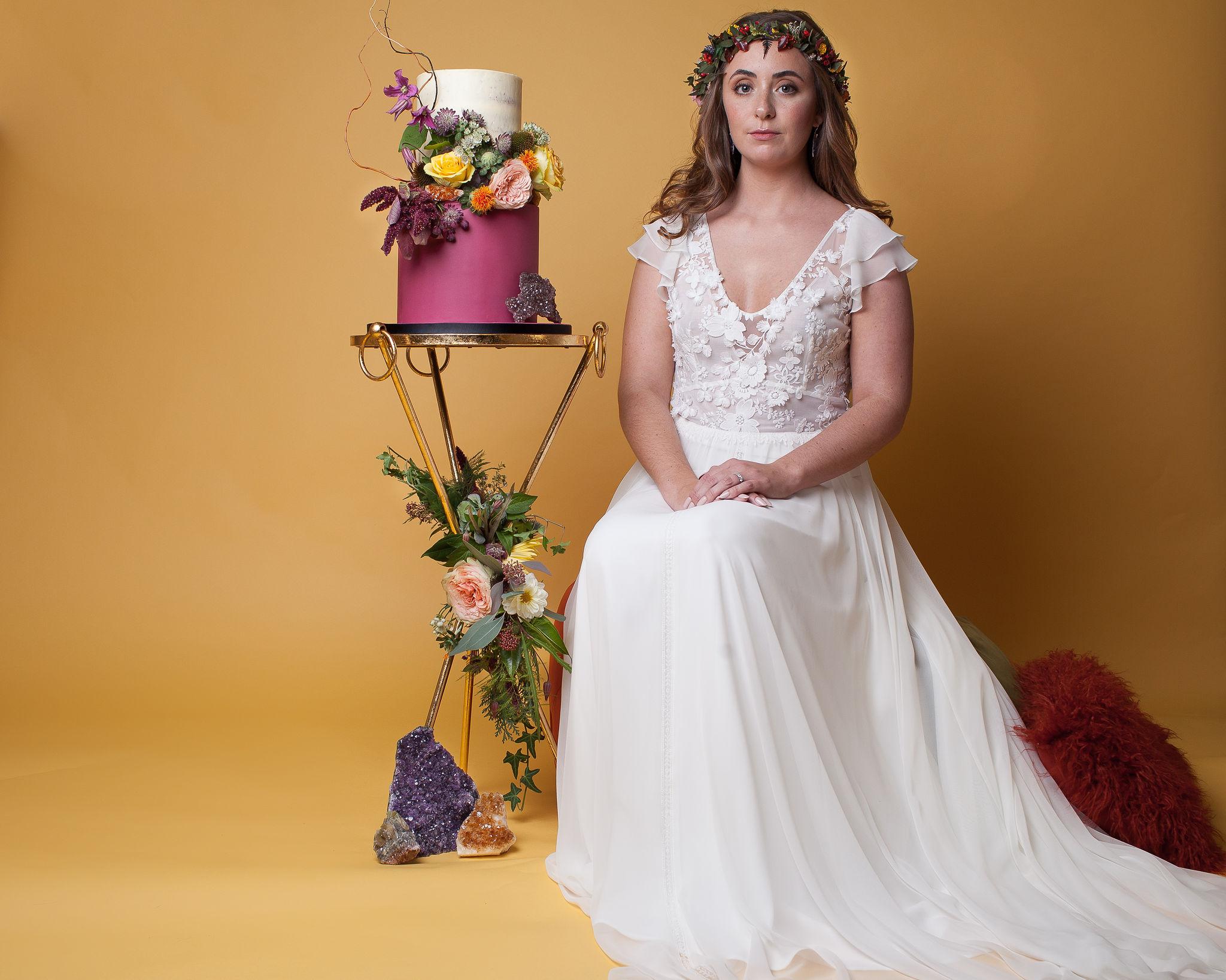 Abundance crystals- colourful wedding- dress 2
