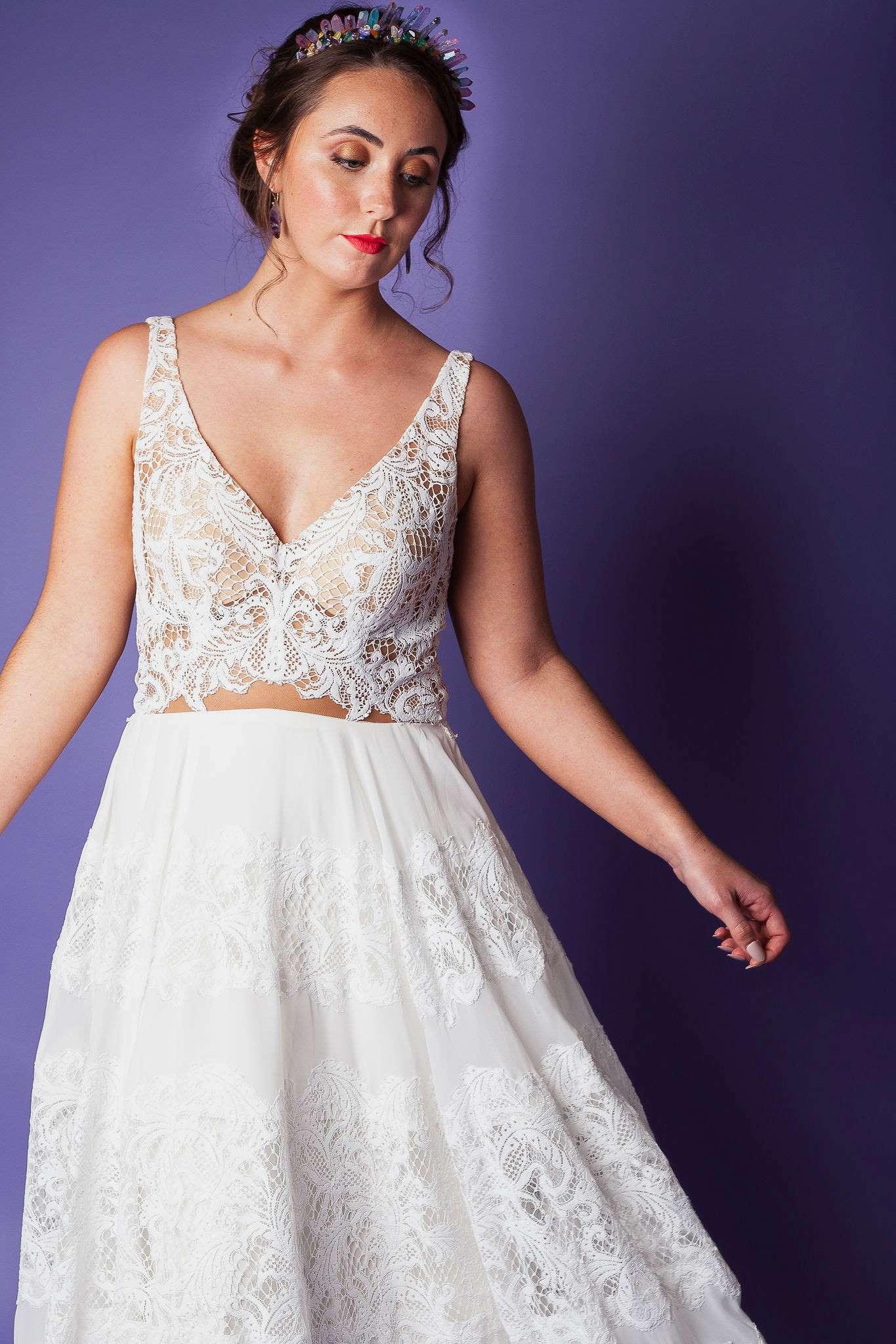 Abundance crystals- colourful wedding- dress