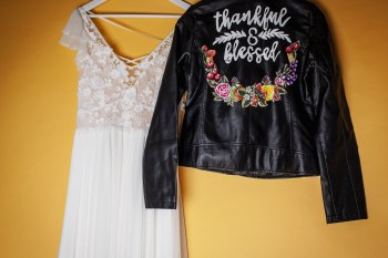 Abundance crystals- colourful wedding- jacket