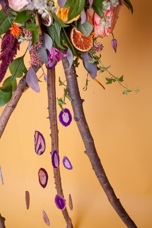 Abundance crystals- colourful wedding- tree 2