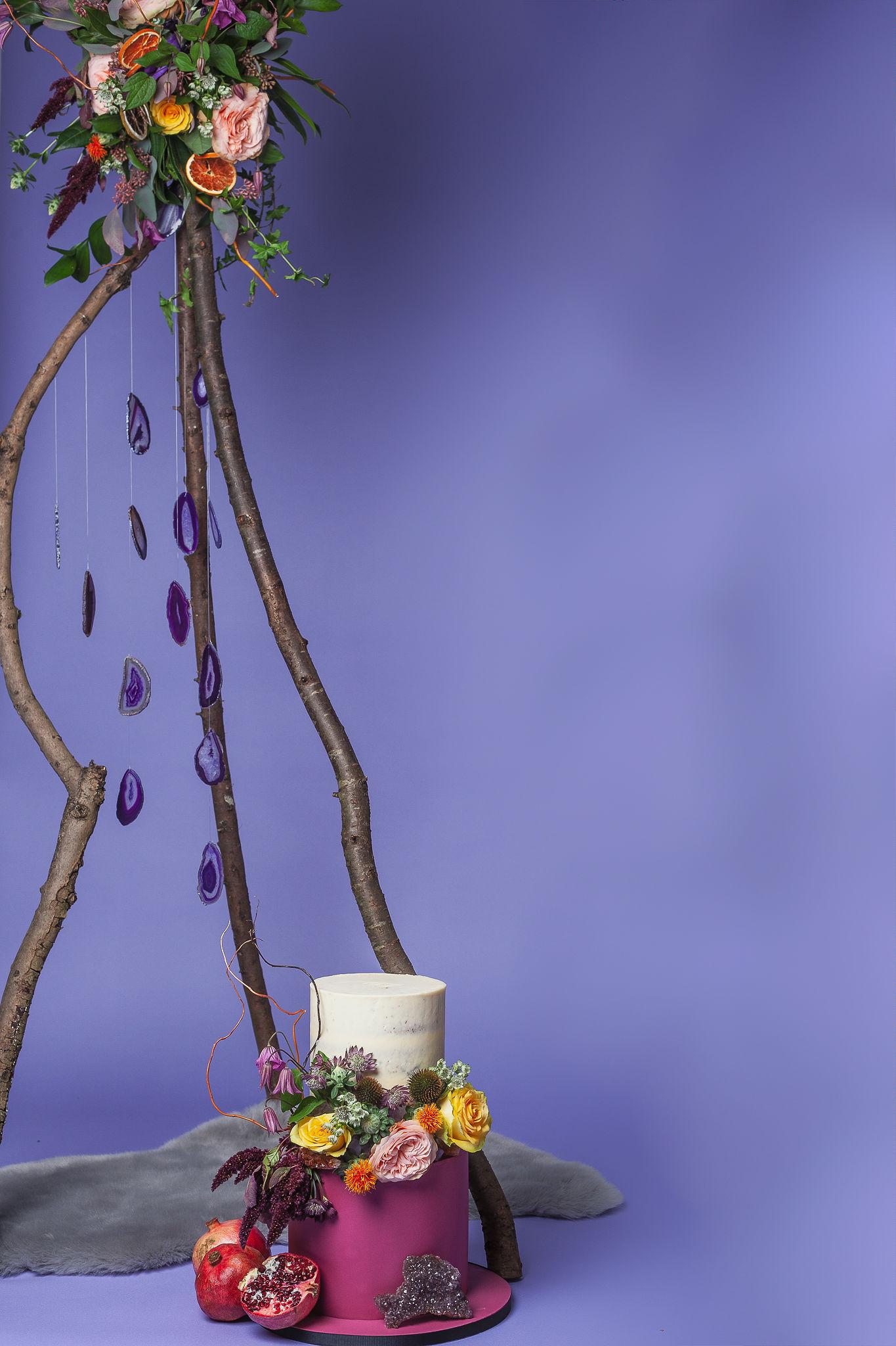 Abundance crystals- colourful wedding- tree