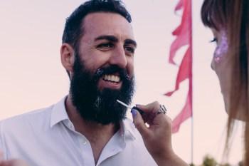 Festival Wedding- Joelle Poulos- Beard