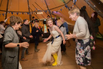 Ragdoll Photography-Tipi Wedding- Bride Wellies
