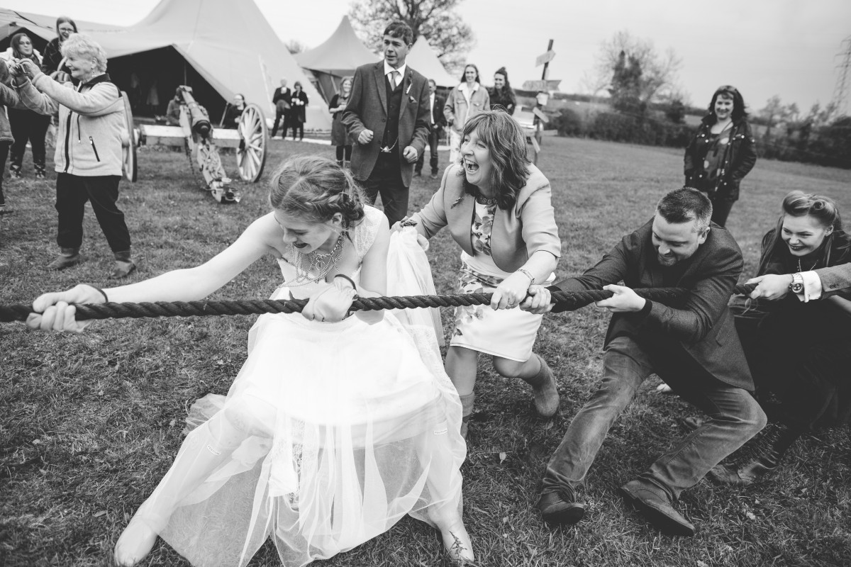 Ragdoll Photography-Tipi Wedding- Tug Of War 3