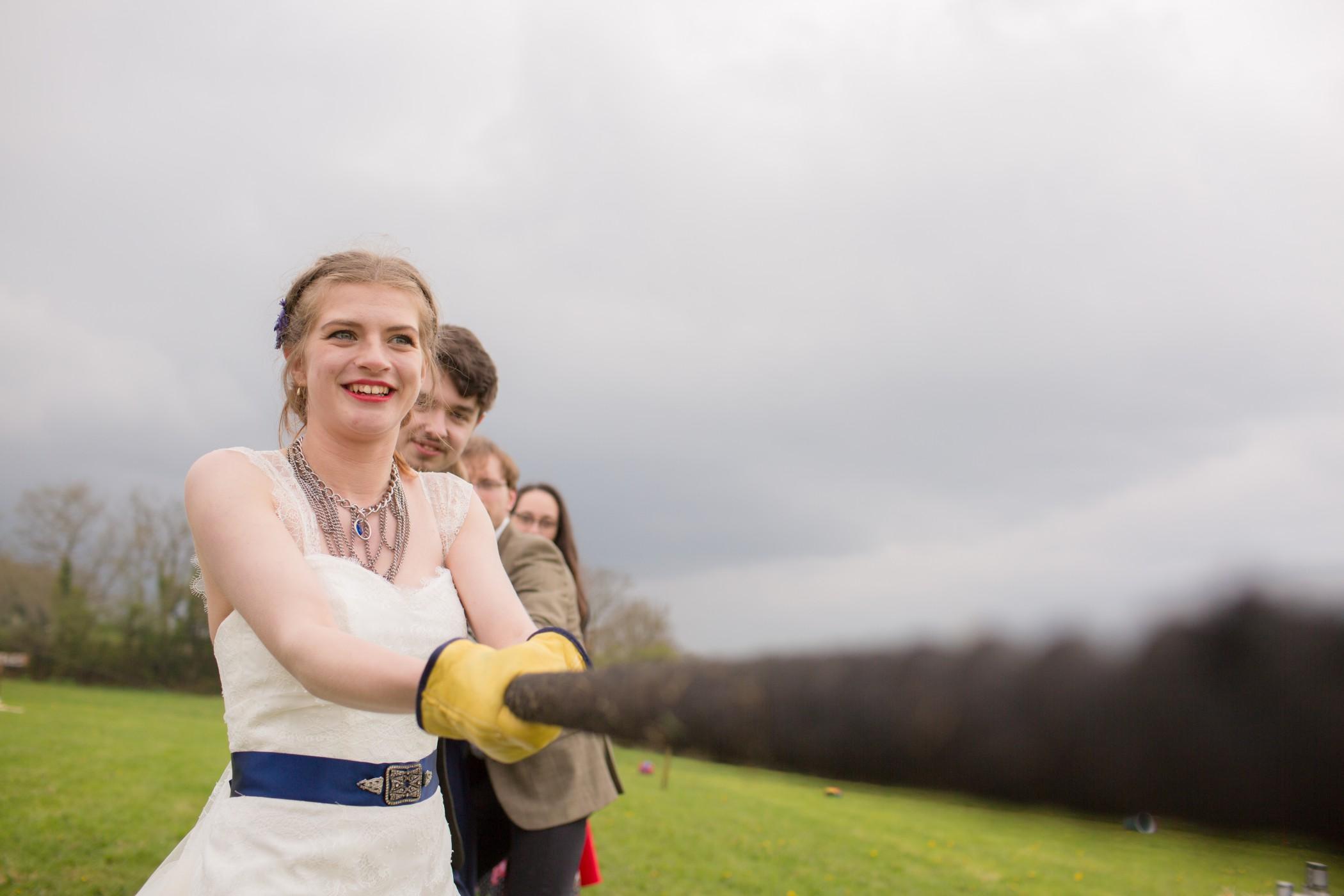Ragdoll Photography-Tipi Wedding- Tug Of War