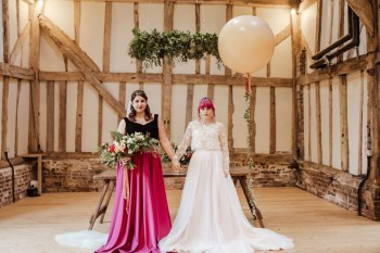 Roshni Photography- Barn Wedding Shoot- Balloon