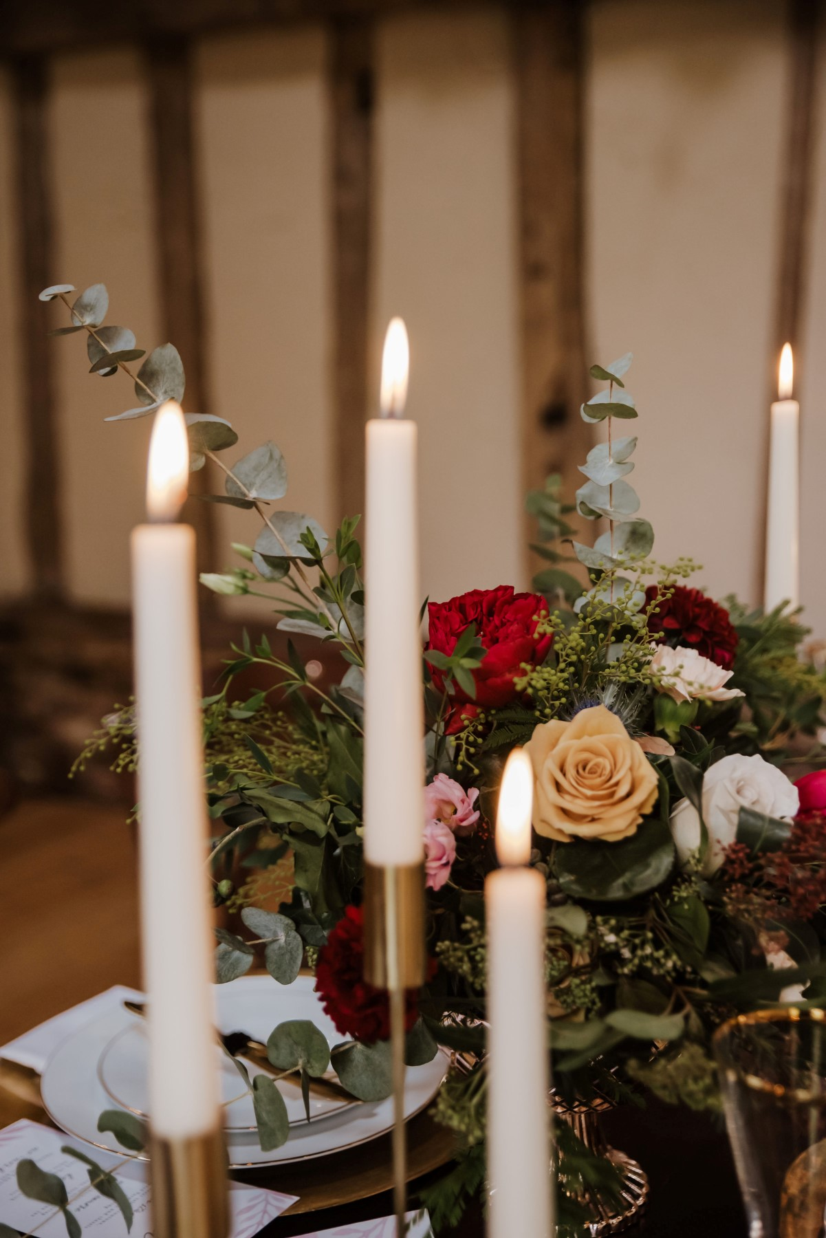 Roshni Photography- Barn Wedding Shoot- Candles