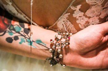 neon dreams- free form images- valentines- bracelet