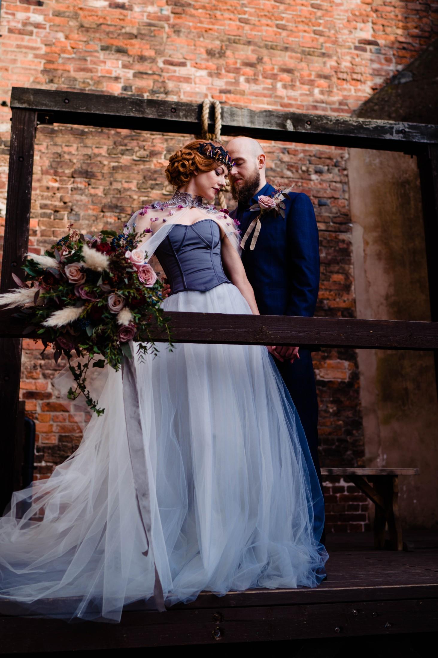 A gothic wedding - national justice museum wedding - alternative wedding - Vicki Clayson Photography 1