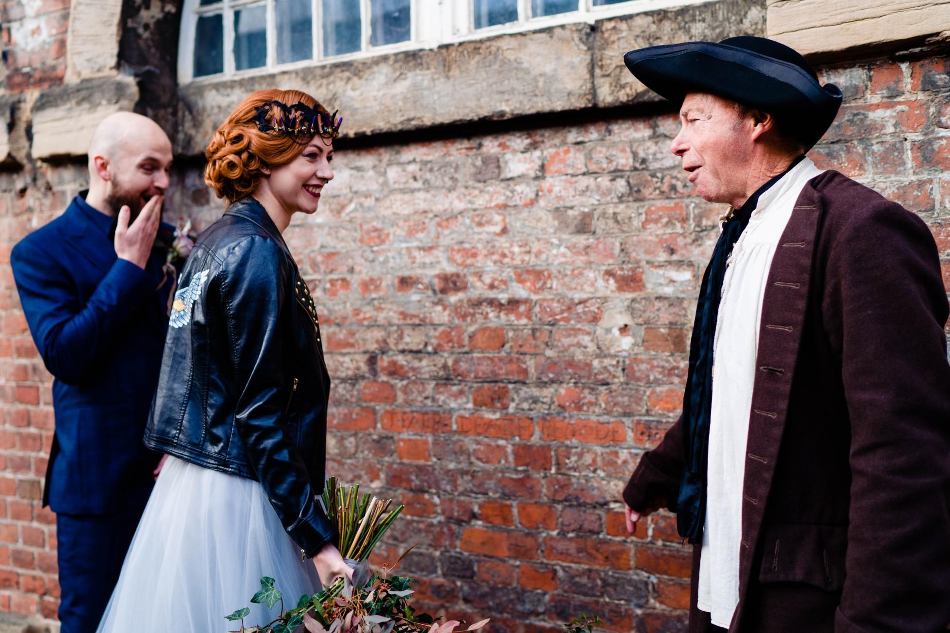 A gothic wedding - national justice museum wedding - alternative wedding - Vicki Clayson Photography (14)