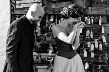 A gothic wedding - national justice museum wedding - alternative wedding - Vicki Clayson Photography (16)