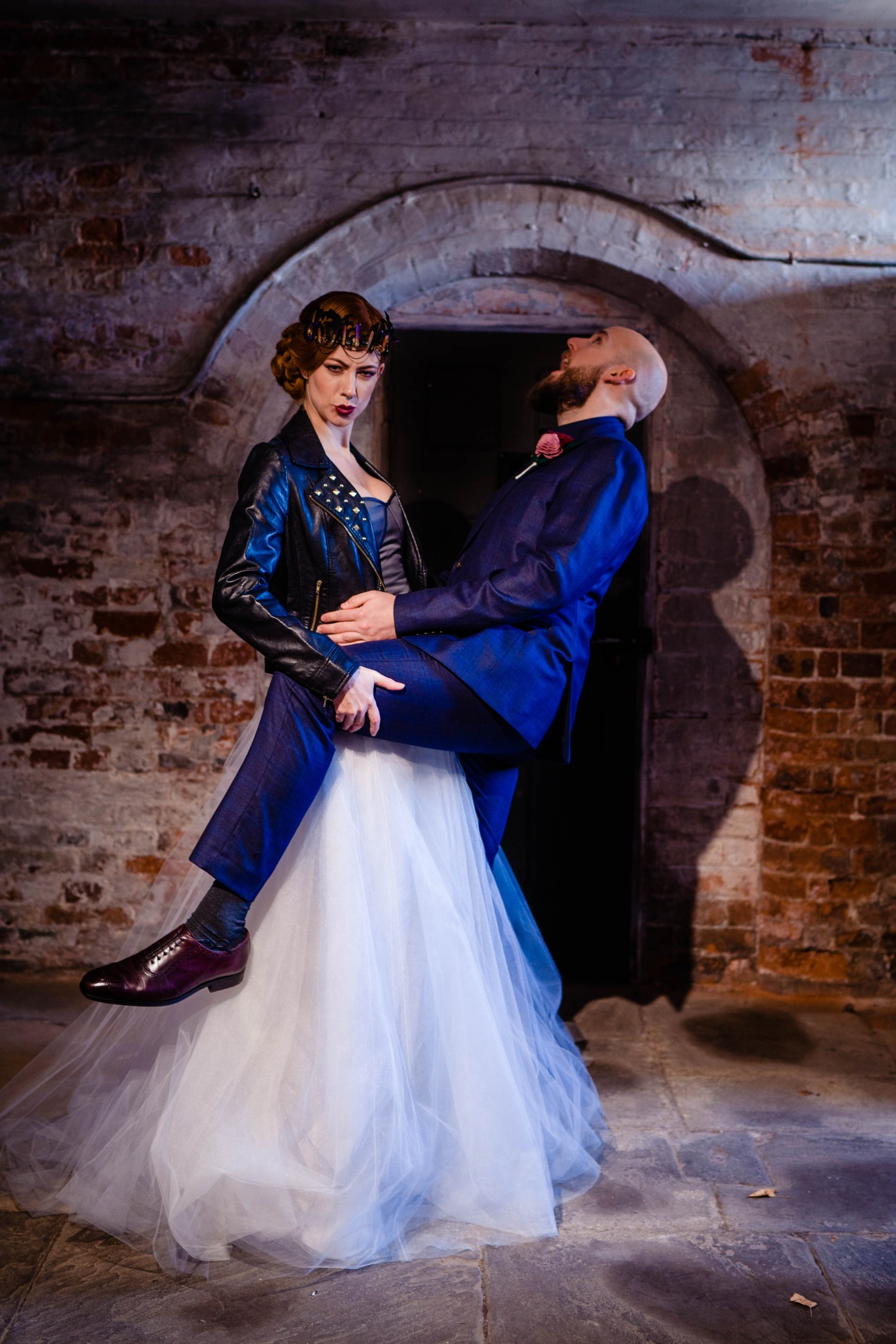 A gothic wedding - national justice museum wedding - alternative wedding - Vicki Clayson Photography (2)