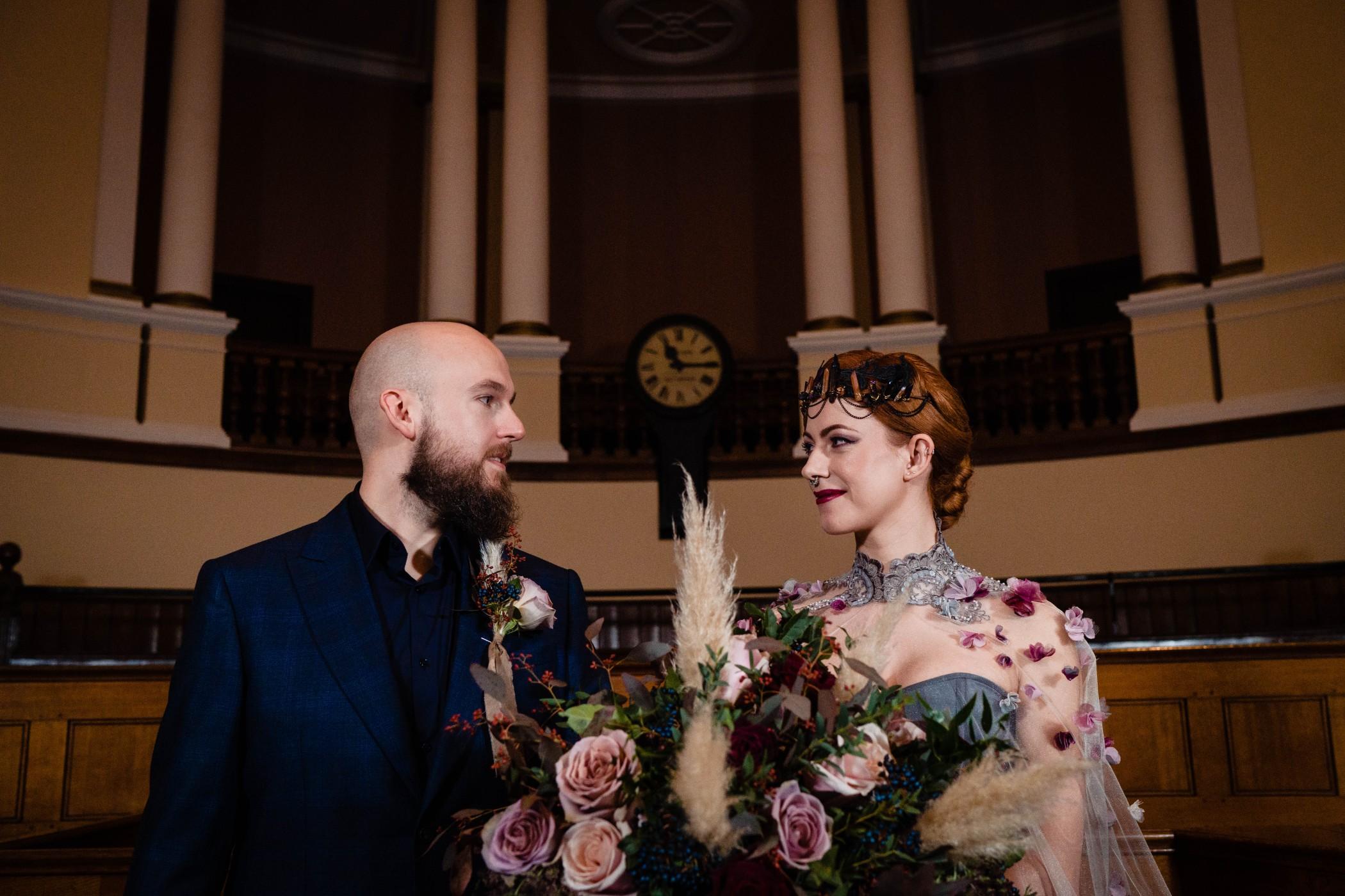 A gothic wedding - national justice museum wedding - alternative wedding - Vicki Clayson Photography (27)