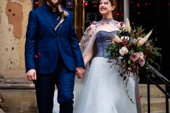 A gothic wedding - national justice museum wedding - alternative wedding - Vicki Clayson Photography (30)