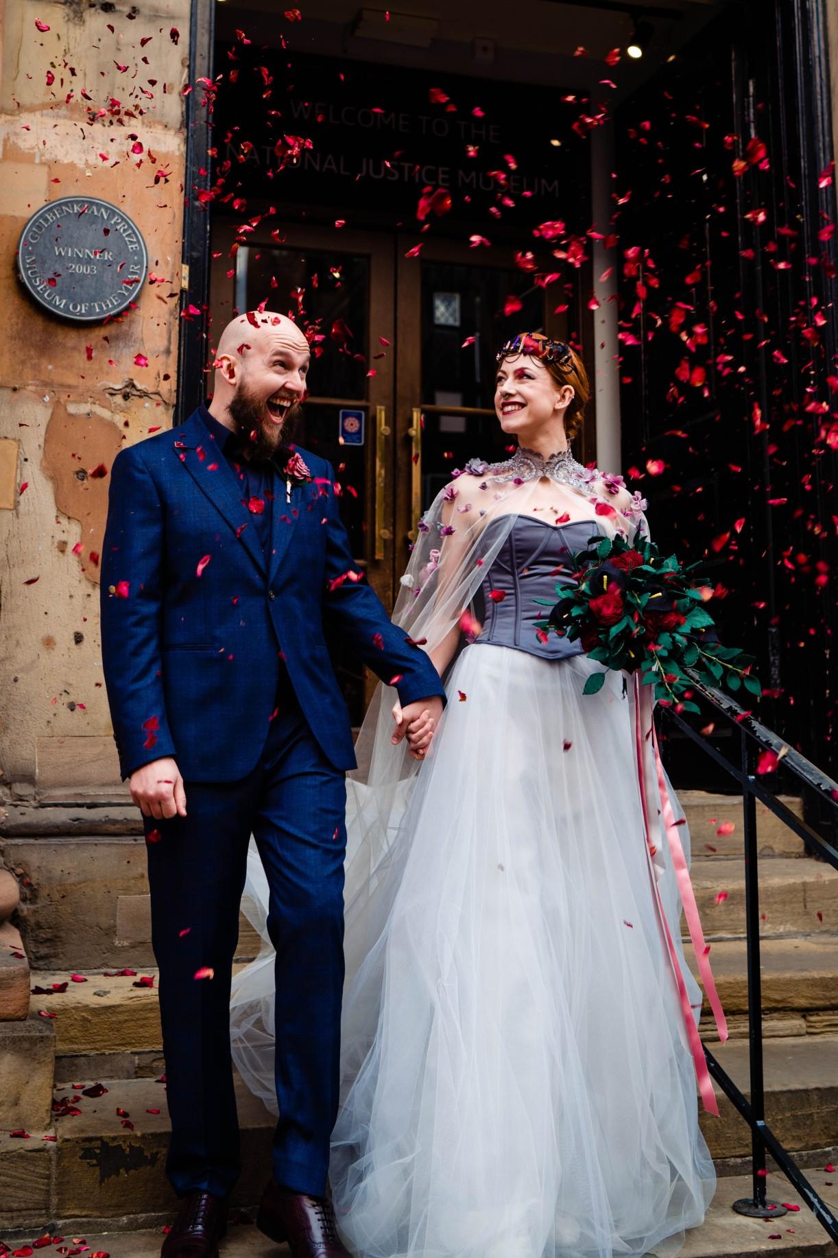 A gothic wedding - national justice museum wedding - alternative wedding - Vicki Clayson Photography (31)
