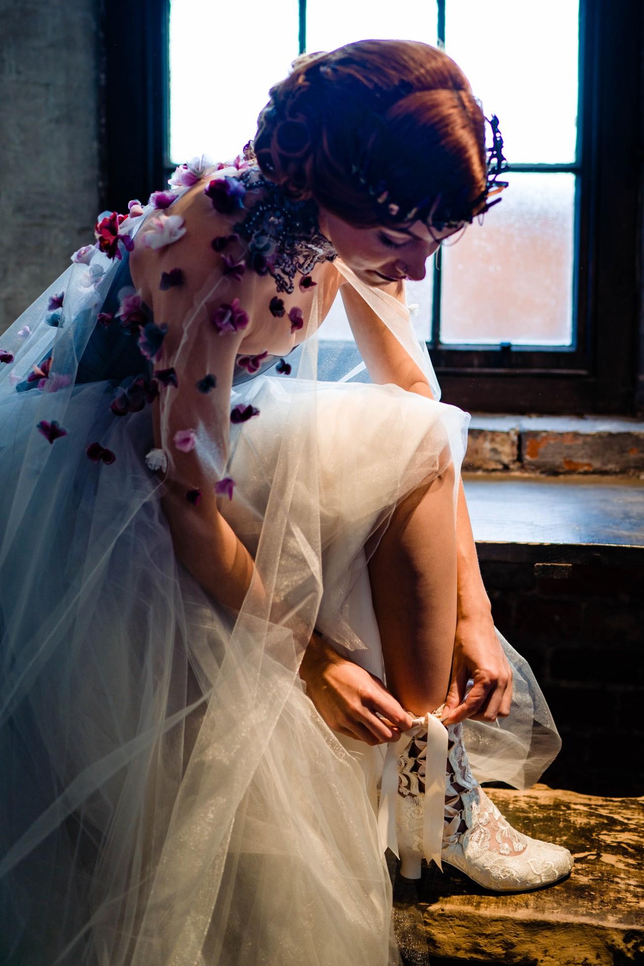A gothic wedding - national justice museum wedding - alternative wedding - Vicki Clayson Photography (38)