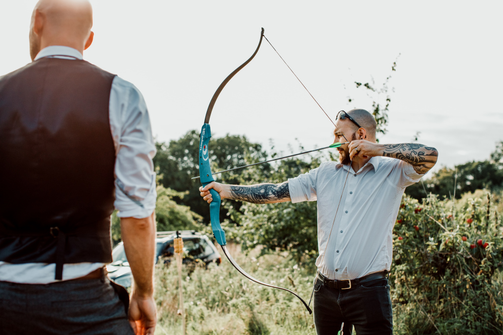 Alpaca Yurt Wedding- Archery
