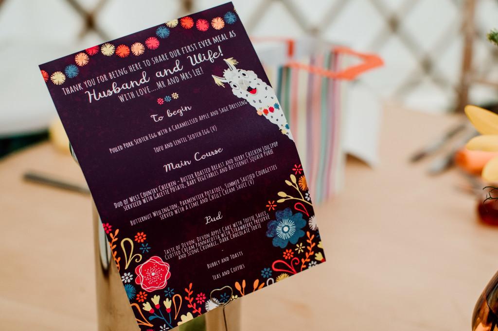 Alpaca Yurt Wedding- Invites