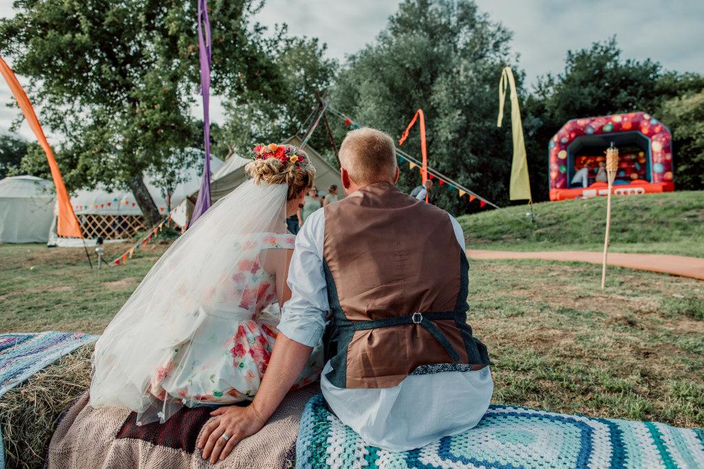 Alpaca Yurt Wedding- Hay Bales