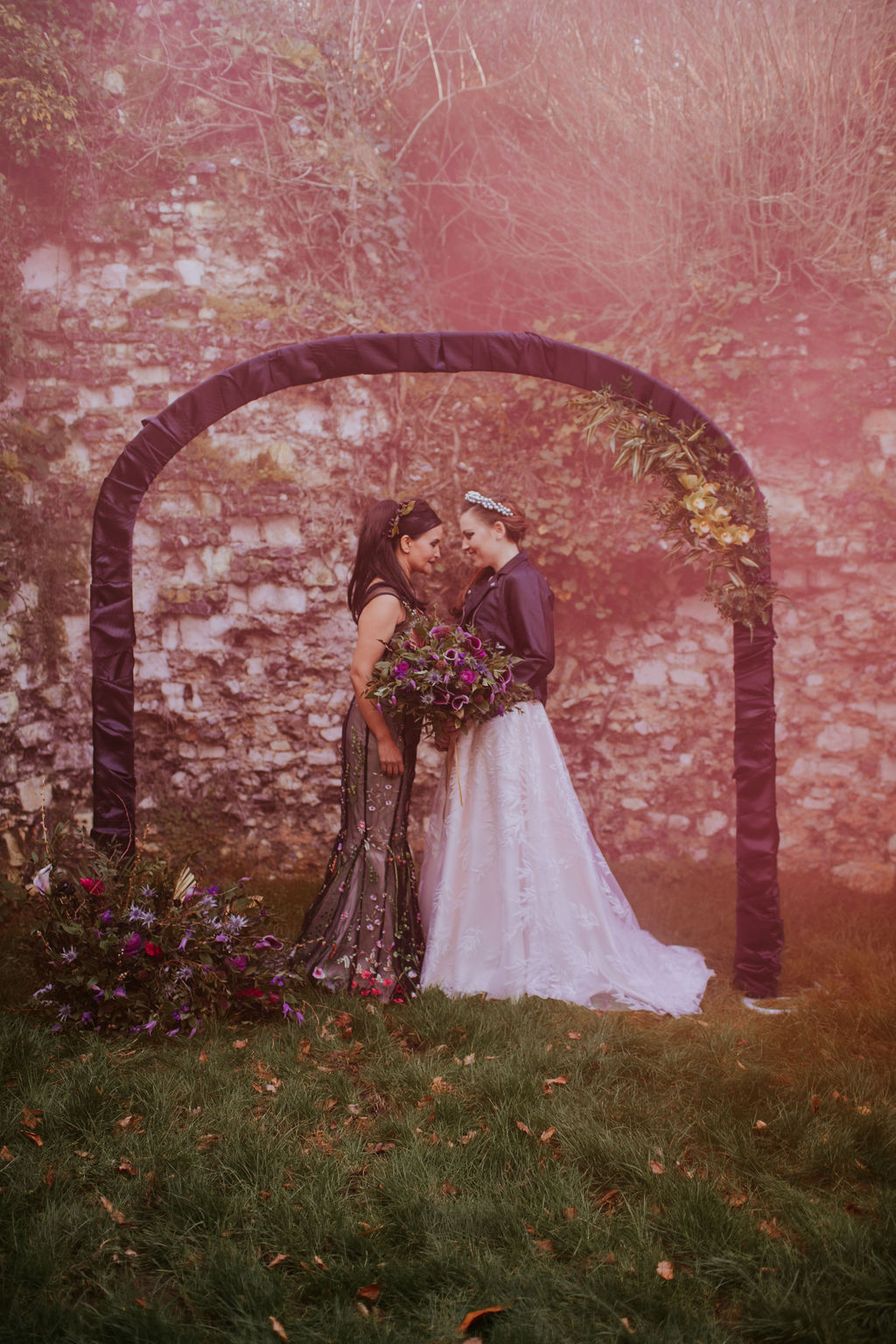 Nurstead Court Wedding- Pink