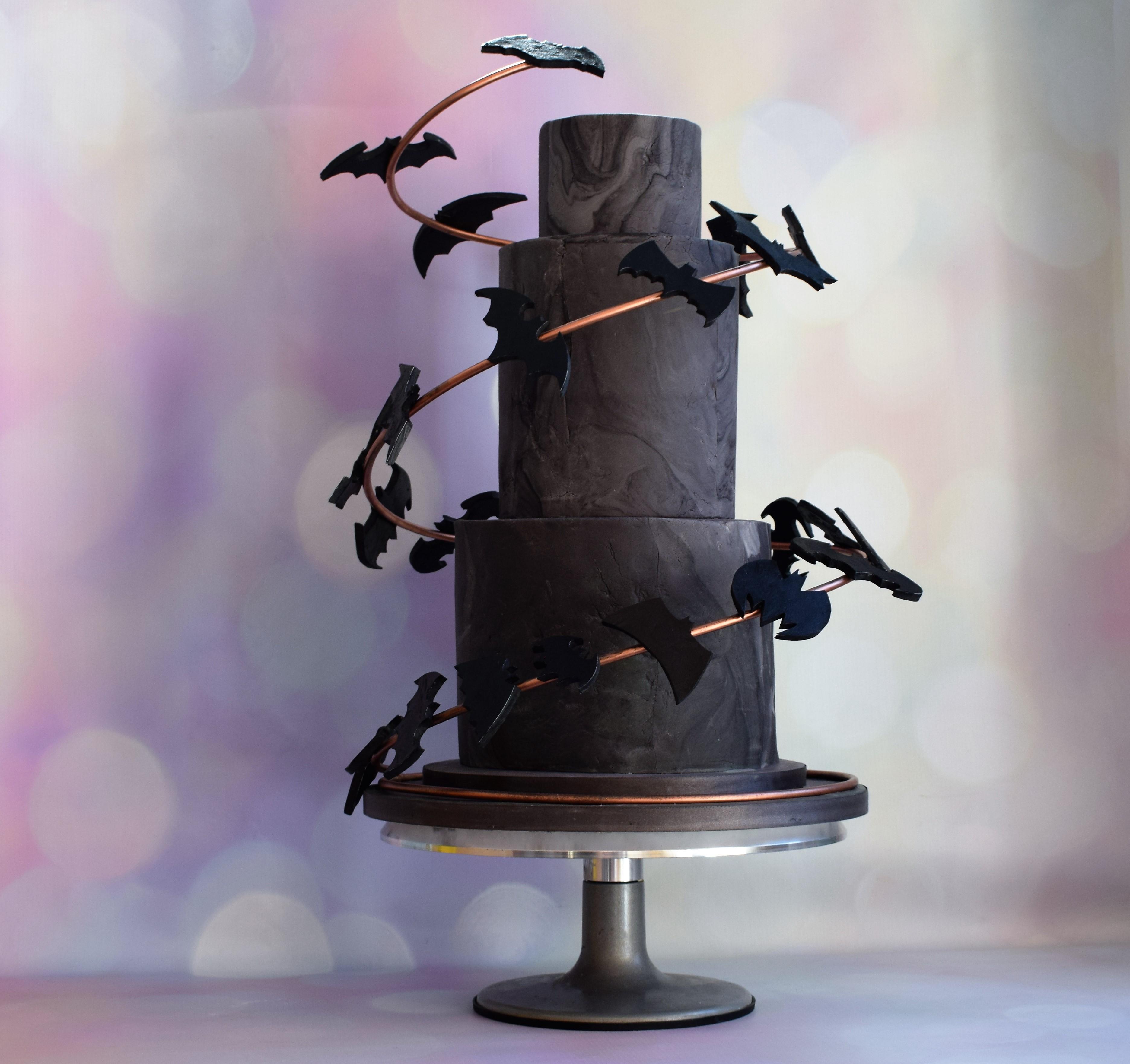 bake to the future - marvel wedding cake - batman wedding cake - alternative wedding cake