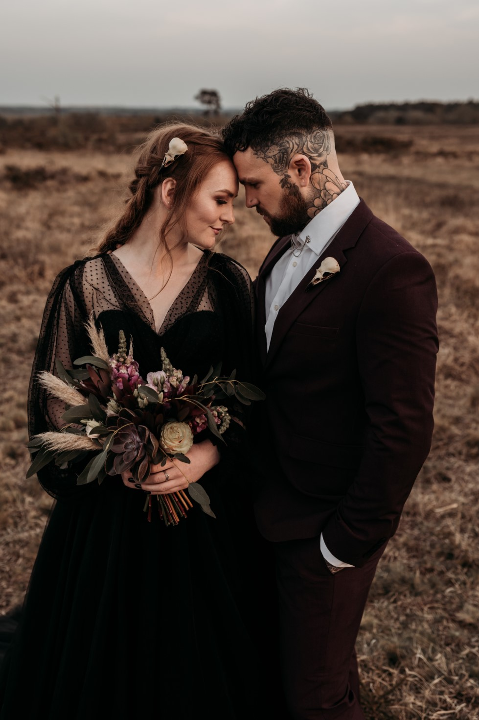 Finn And The Fox Photography-Moody Elopement Wedding- Unconventional Wedding-Edgy Wedding- Unique Wedding - Gothic wedding 2